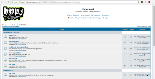 5ae0dc97f5f9 By 2006 Hypebeast was looking more like a website. Likewise the Forum had  greatly expanded.